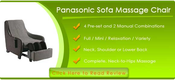 Panasonic EP-MS40ET Sofa Style Massage Chair